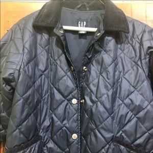 Kids gap quilted car jacket. Good condition M/L